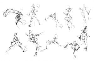 drawing action poses