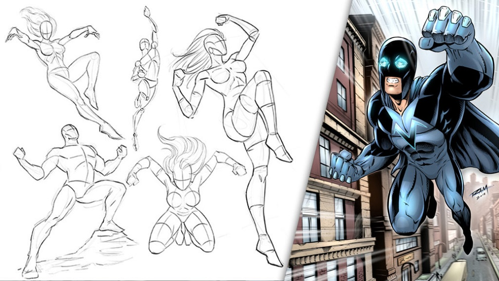 Dynamic poses for drawing 2